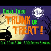 ULM's Annual Trunk or Treat, Drive-Thru Edition is Thursday