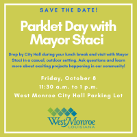 Public invited to 'Parklet Day with Mayor Staci' on Friday, Oct. 8