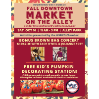 DOWNTOWN WEST MONROE TO HOST FALL MARKET ON THE ALLEY WITH LIVE MUSIC AND CHILDREN'S ACTIVITIES
