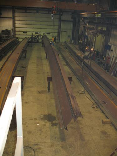 Structural Beams for a Grain Elevator 80' long with 6'' camber