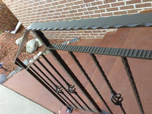 Hammered Stair Rail