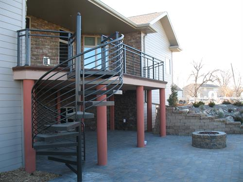Spiral Stair & Cable Railing
