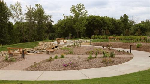 Our Pathways of Faith Park reflects our mission and ministry of Christian service. The park provides space on the NRC campus for NRC family and the Northfield community.