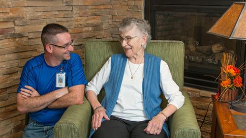 NRC team members receive hands-on training and spend time with residents.