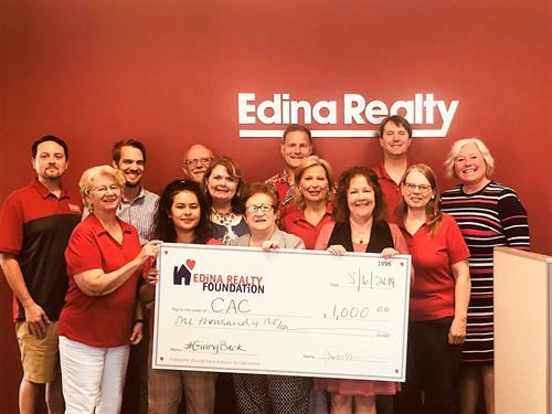 Edina Realty agents giving back to their community.