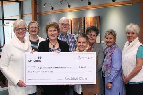 Age Friendly Northfield receiving a Northfield Shares grant