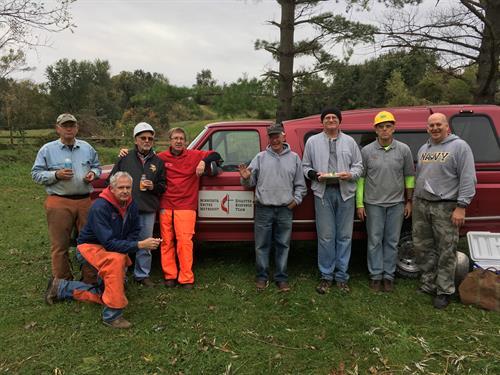 Volunteers helping with September 2018 Tornado Clean-up