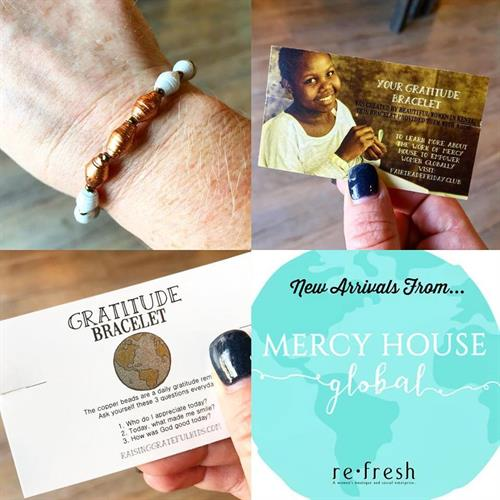 Gratitude bracelets available at Refresh Boutique!