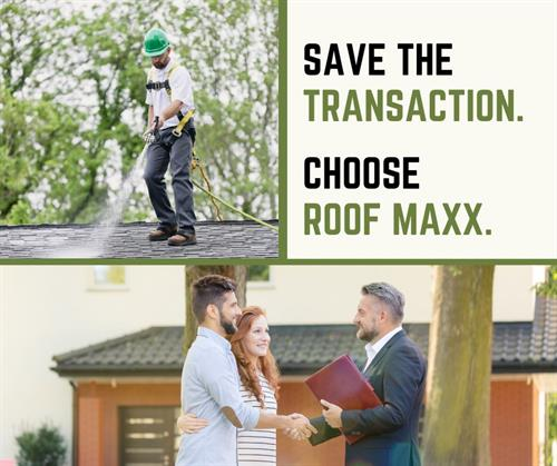 Choose Roof Maxx for your next Real Estate transaction.