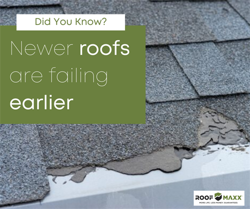 The problem is that roofs shingles are being manufactured with less asphalt and aren't lasting as long as they used to.