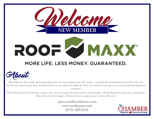 Roof Maxx joins Angleton Chamber of Commerce