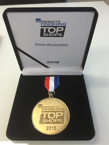 Products Finishing 2015 Top Shops Award