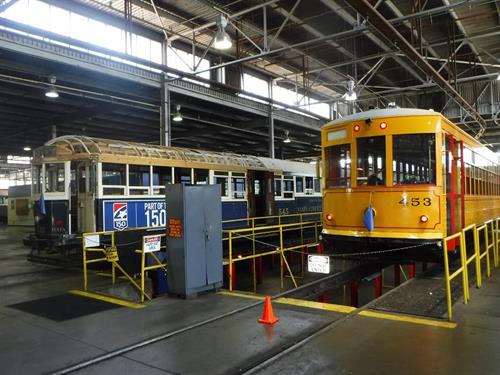 Trolley Car 453 On The Pit