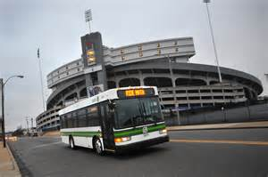 MATA Bus Traveling Near Liberty Bowl Stadium