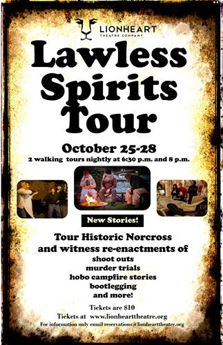 Lawless Spirits Walking History Tour, October 25-28
