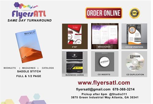 Catalogs, Brochures, Business Cards, Postcards, Flyers, Tickets, CD Inserts, CD Duplication, Calendars, Restaurant Menus