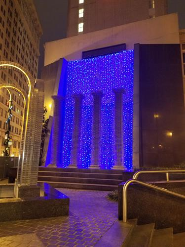 Artistic waterfall display - Margaret Mitchell Square Atlanta