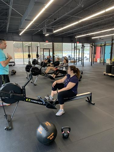 Group classes with a licensed CrossFit trainer