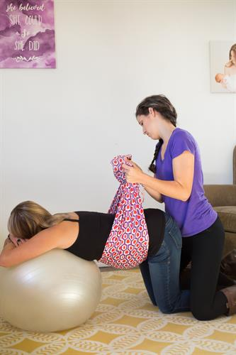 Our doulas are skilled at providing comfort measures during labor, and we teach many of them in our comprehensive birth classes.