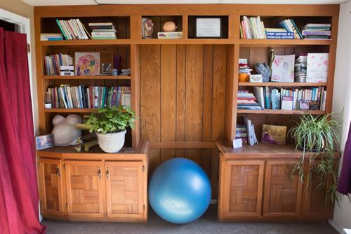 Our office features an extensive lending library, which is free for all clients.