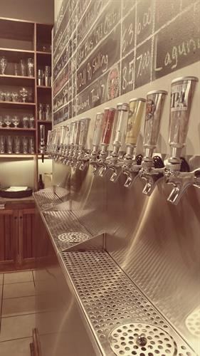 A shot of our tap line-up.