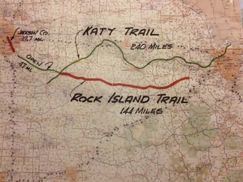 KC and STL are connected by Rock Island and Katy trails. Adding 144 miles creates a world-class loop.