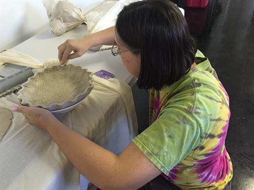 Making slab pie pan