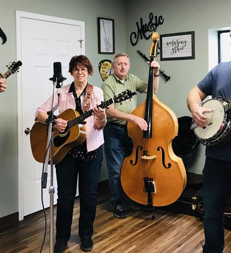 Bluegrass band plays during our Last Friday of the Month Birthday Luncheon.   Stop in an tap your toes to the soothing sound of Bluegrass.