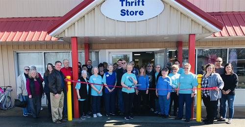 Grand Re-Opening of the St. James Caring Center Thrift Store after a total remodel.