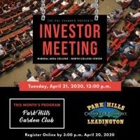 **CANCELED** Investor Meeting - April 21, 2020 **CANCELED**