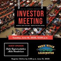 **CANCELED** Investor Meeting - June 16, 2020