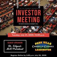 Investor Meeting - July 21, 2020