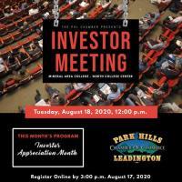 Investor Meeting - August 18, 2020