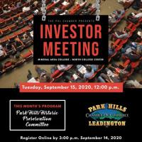 **CANCELED** Investor Meeting - September 15, 2020
