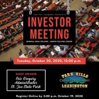 *CANCELED* Investor Meeting - October 20, 2020