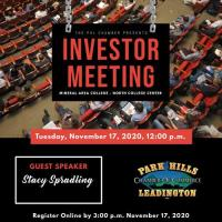 *CANCELED* Investor Meeting - November 17, 2020