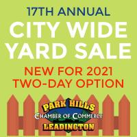 17th Annual City Wide Yard Sale - NEW FOR 2021: TWO-DAY SALE
