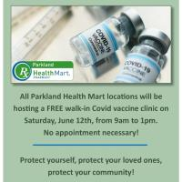 FREE, Walk-In COVID Vaccine Clinic at Parkland Health Mart Pharmacy Locations