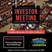 Investor Meeting - November 19, 2019
