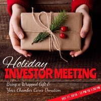 Holiday Investor Meeting 2019
