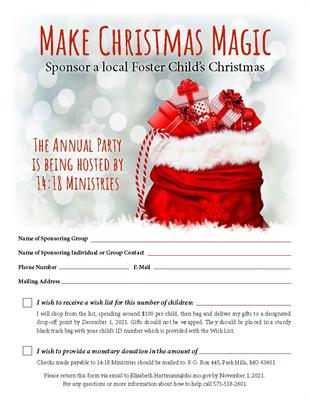 Sponsor a Child in Need this Christmas!