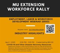 MU Extension Workforce - Webinar Series - COVID-19 And Other Disaster Recovery Resources