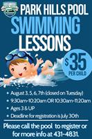 Park Hills Pool Offers Swimming Lessons