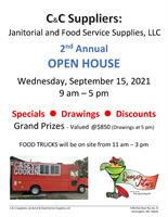 You're invited to C & C Janitorial & Food Service Supply, LLC's 2nd Annual Open House!