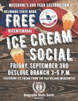 Free Ice Cream Social at Belgrade State Bank