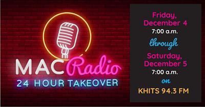 MAC Radio: 24 Hour Takeover of KHITS 94.3 FM