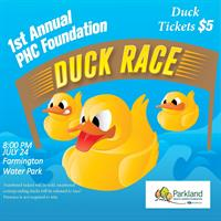 The PHC Foundation is holding its First Annual Duck Race Around the Lazy River
