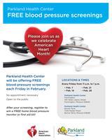 FREE Blood Pressure Screenings at Parkland Health Center