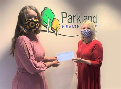 Parkland Health Center Foundation Awards 2021 Lipstein Scholarship to Hannah Helvey