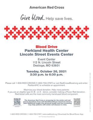 Parkland Health Center to Host Blood Drive